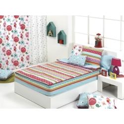 Saquito nórdico con diseño de rayas GLOBE para cama de 90 o 105 cm