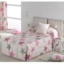 Edredon para cama juvenil infantil confort ESTRELLAS color rosa