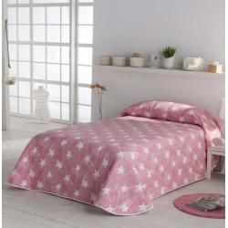 Colcha de estrellas rosa NUIT para cama individual o grande