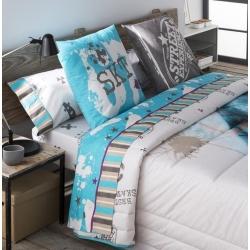 Conjunto de sábanas con 3 piezas STREET color azul