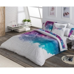 Funda nordica color azul y fucsia DREAMER para cama matrimonial
