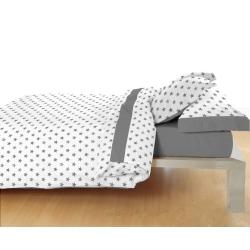 Juego de sábanas infantiles ESTRELLITAS grises para cama 90, 105, 135, 150 o 180 cm