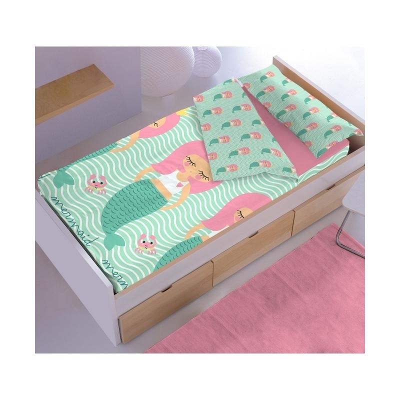Saco nordico ajustable infantil sirena para cama 90 o 105 cm - Saco nordico ikea ...