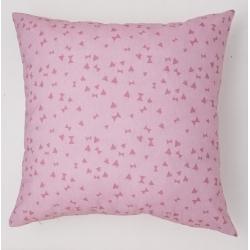 Funda para cojín decorativo estampado rosa CAT de 50x50 sin relleno