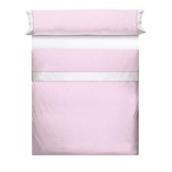 Sábanas con topitos blancos MOLE sobre fondo rosa, azul, gris o beige
