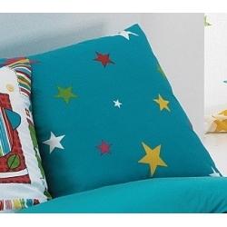 Cojin para cama infantil BIRD fondo azul con estrellas