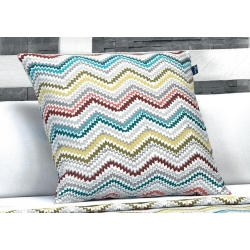Cojin para cama juvenil SPIKE con zigzag de colores