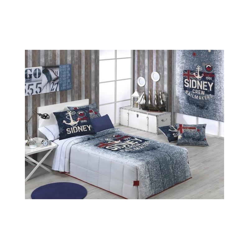 Edredón con botones conforter SIDNEY para cama de 80, 90 o 105 cm
