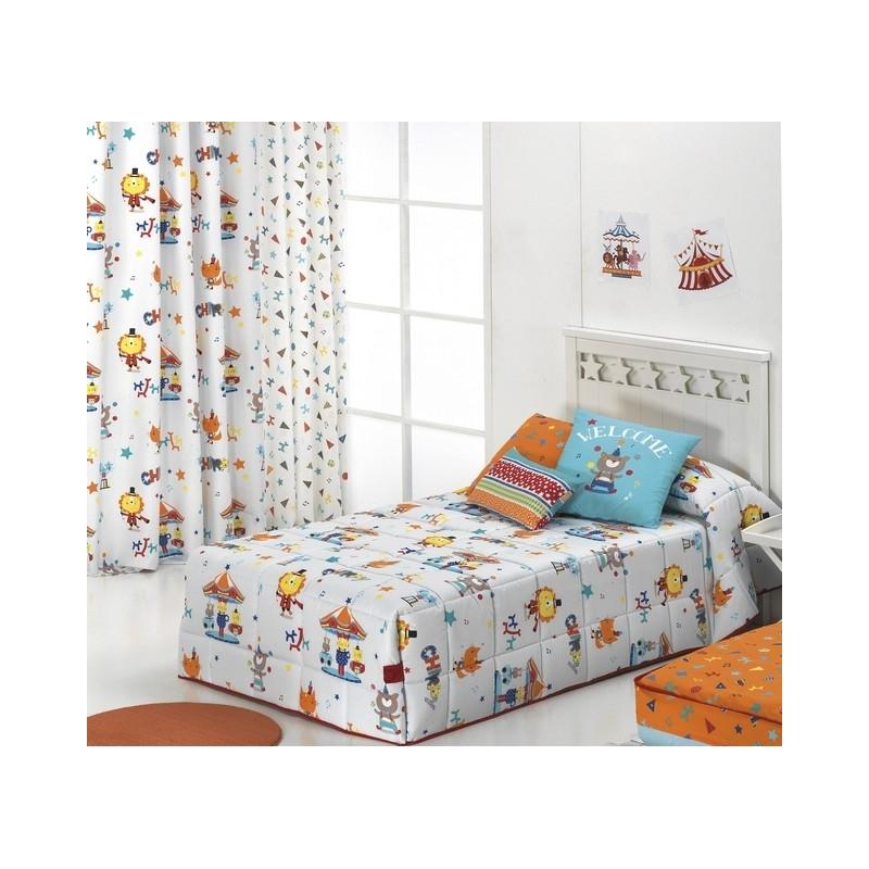 Edredón infantil con botones CIRCUS con esquinas conforter
