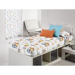 Edredones ajustables para cama CIRCUS con dibujos infantiles