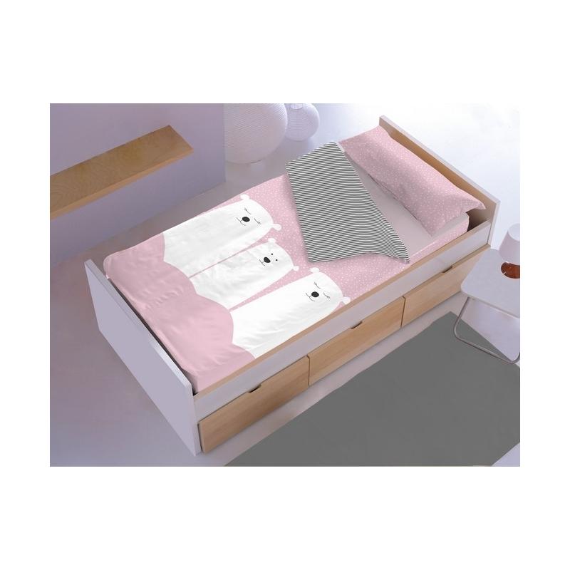 Saco nórdico de cama algodón 100 OSO color rosa