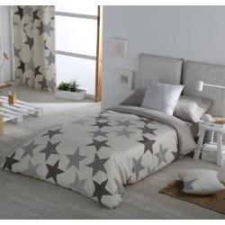 Funda nordica para cama infantil o juvenil ESTRELLAS gris