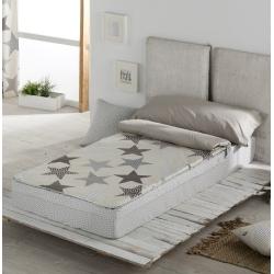 Saco nordico para cama de 90 cm con ESTRELLAS grises