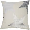 Cojin decorativo de cama con relleno ESTRELLAS color gris
