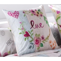 Funda de cojin para cama de chicas COOKIE LOVE color rosa