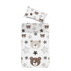Funda nordica infantil para cama de niños OSITO dibujo cara de osos