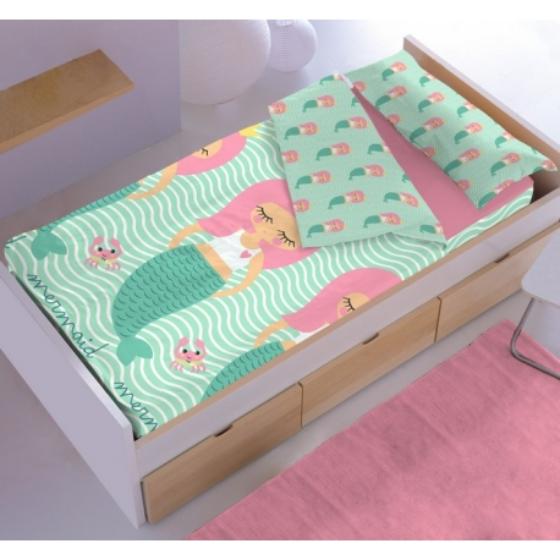 Saco nordico ajustable infantil SIRENA para cama 90 o 105 cm