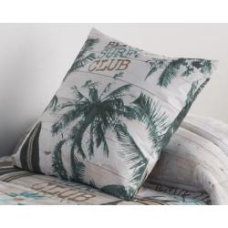 Funda para almohada cuadrada SURF dibujo palmera con relleno opcional