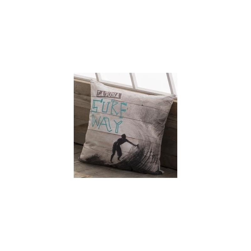 Funda de cojín para cama de chicos SURF estampado surfista