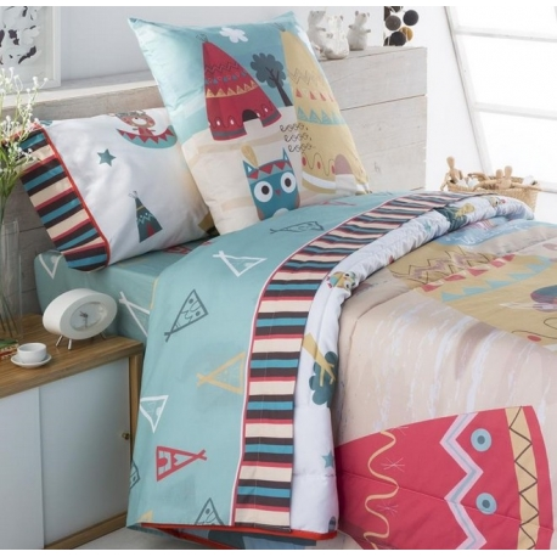 Sabanas de algodon percal 200 hilos INDI para cama infantil de niños