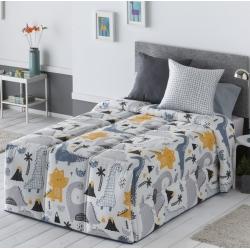 Edredón infantil conforter con relleno nórdico DINOS dinosaurios cama 105 o 90