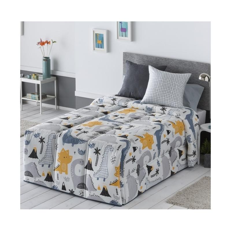 Edredón Infantil Conforter Con Relleno Nórdico Dinos Con Dinosaurios