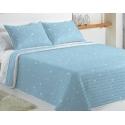 Colcha para cama de estrellas confortino 90 o 105 cm KALO color azul