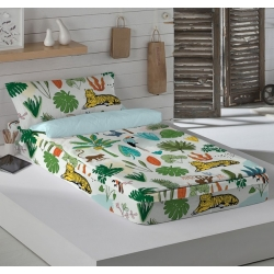 Saco nórdico ajustable cama 90 EXOTIC tigres en la selva