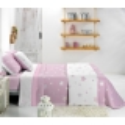 Vista reversible colcha capa de cama KALO rosa
