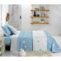Vista reversible colcha capa de cama KALO azul