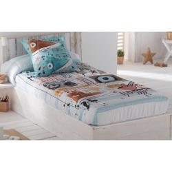 Edredón ajustable juvenil para cama grande o pequeña MUSIC algodón extra suave