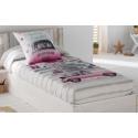 Edredón ajustable rosa CANDY para cama nido, abatible o litera