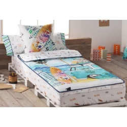 Saco nórdico desmontable con sábana bajera BEACH para cama 90x190 o 105x190 cm