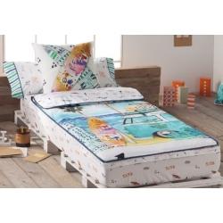 Impresion ropa cama juvenil BEACH de Tejidos JVR