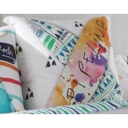 Almohada para cama juvenil BEACH con tablas de surf