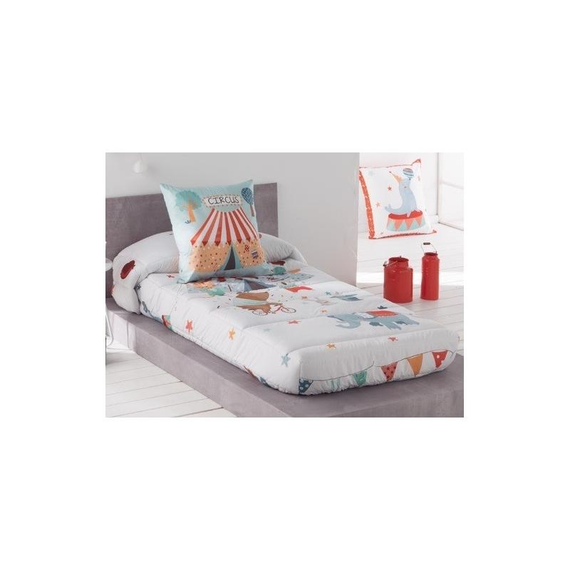 Edredon ajustable infantil Circus de JVR cama 90 o 105 cm