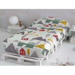 Edredon nordico ajustable NIELS para cama de niños 90 o 105 cm