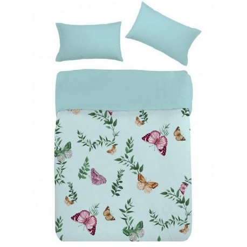 Funda nordica MARIPOSAS turquesa para cama infantil o juvenil