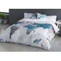 Funda nórdica de algodón para cama juvenil MUNDI atlas del mundo