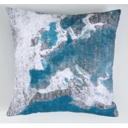 Funda de almohada para cama juvenil MUNDI mapa de Europa