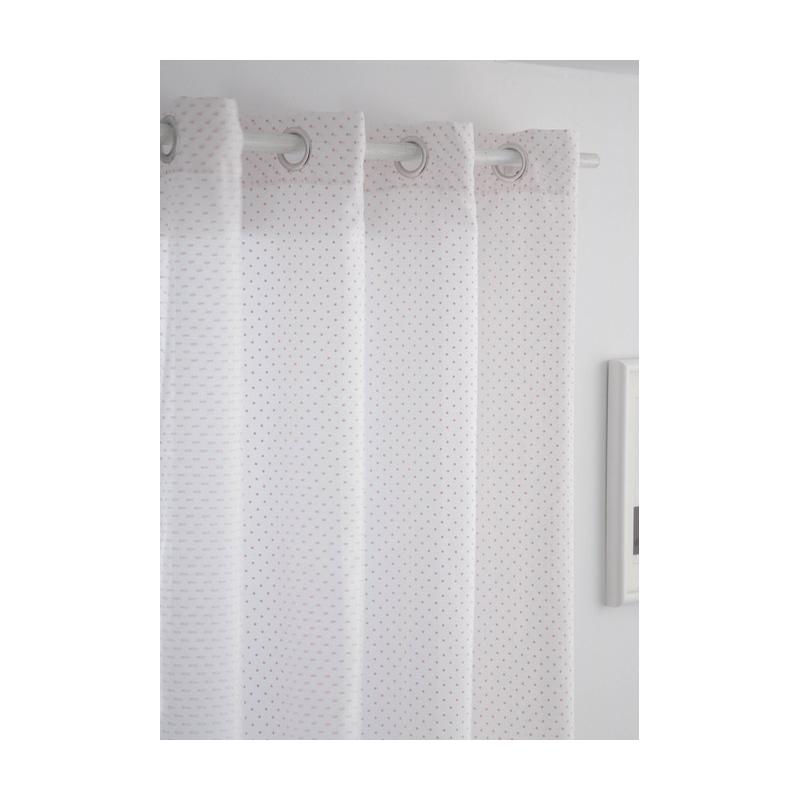 Visillo para dormitorios juveniles TOPOS color rosa