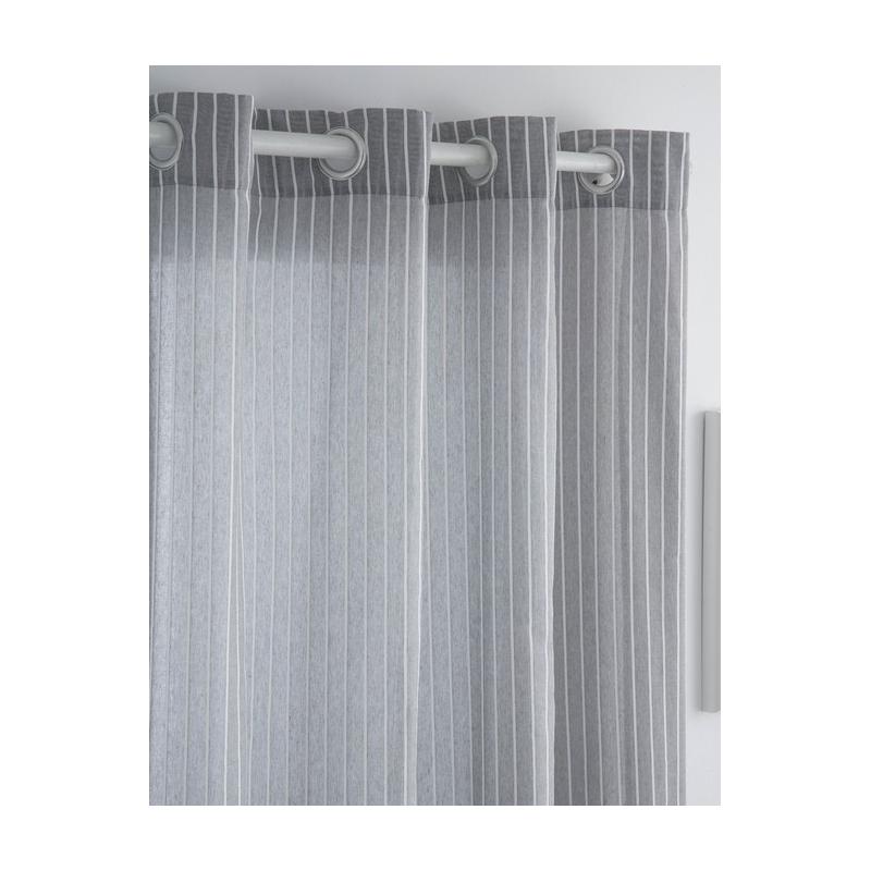 Visillo para habitación infantil o juvenil RAYAS color gris