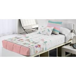 Edredón ajustable niñas y castillos FANTASY para cama 80, 90 o 105 cm