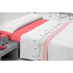 Sábanas infantiles con dibujo de corazones FANTASY cama 90 o 105 cm