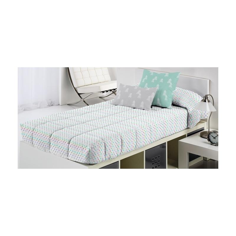 Edredón ajustable cama 105, 90 o 80 DRAW puntitos color azul, verde, rojo y lila