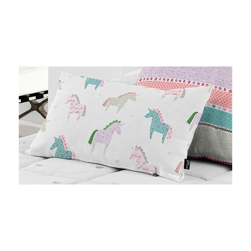 Almohada decorativa para cama de niña UNICORN de 30x50