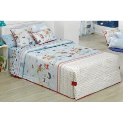 Edredón conforter abotonado para niños MONDO A de 170x270, 180x270 o 200x270