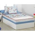 Saco nórdico azul con dibujo infantil MONDO A ajustable a cama 90 o 105 cm