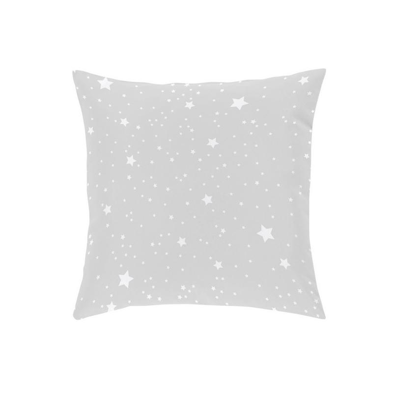 Almohada de estrellas con relleno esponjoso KALO color gris