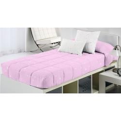Edredon ajustable con estrellas para cama nido, abatible KALO rosa, azul, gris o beige
